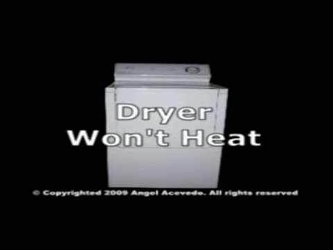 Maytag electric dryer not heating - YouTube