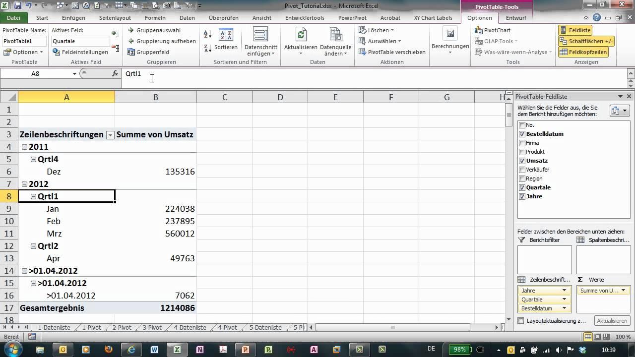 Ungewöhnlich Gruppierung Arbeitsblätter In Excel Ideen - Super ...