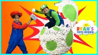 YOSHI GIANT EGG SURPRISE TOYS FOR KIDS!