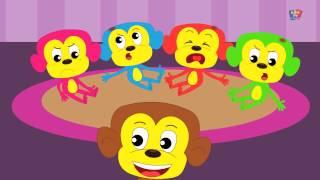 Cinq petits singes   Five Little Monkeys