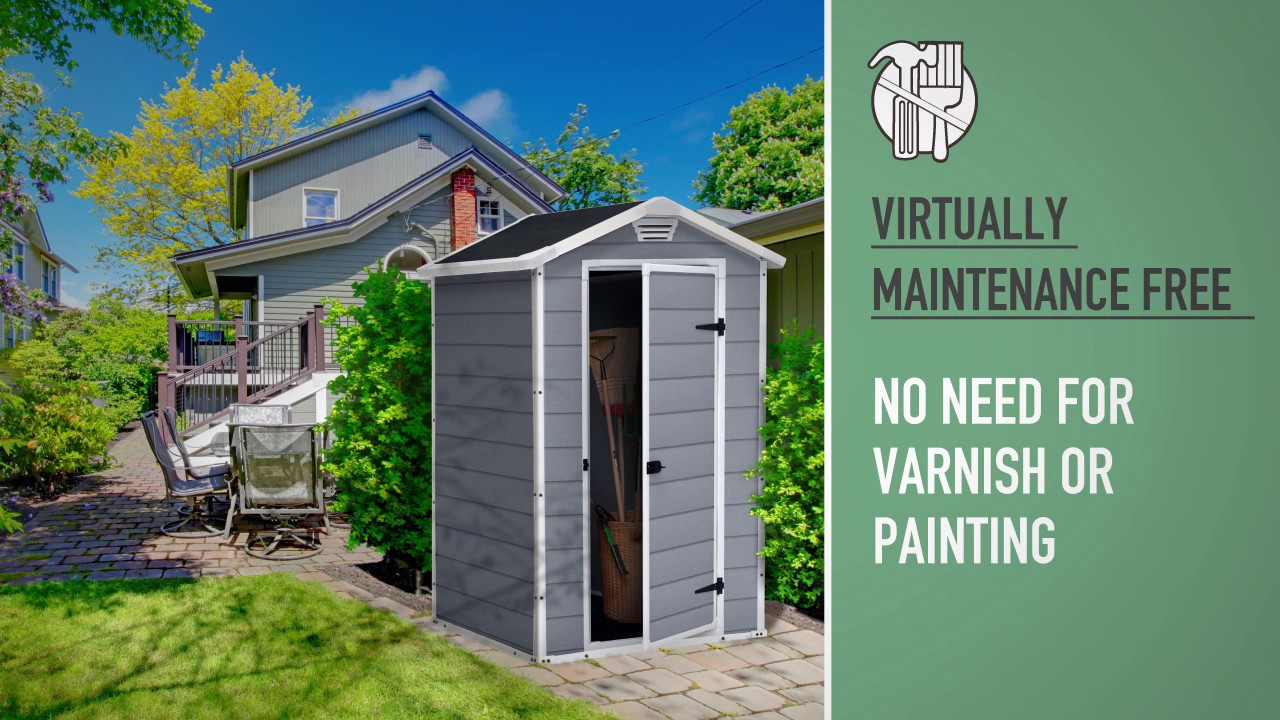 Manor 4x3 Plastic Sheds Keter Youtube
