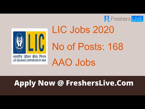 Jobs In Life Insurance Corporation Of India Lic Recruitment 2020 Youtube
