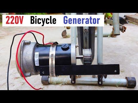 Simple 500W Bicycle Generator - Exercise and Generate Electricity