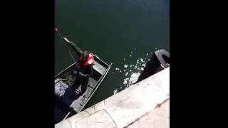 Sailor FREAKS OUT after repeated failures throwing a heaving line.