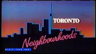 "Toronto Neighbourhoods ""St. Clair West with Valerie Elia"" - CBC TV - 1984"
