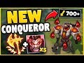 WTF? NEW CONQUEROR DARIUS GIVES YOU OVER 700+ AD NOW?! 100% BROKEN KEYSTONE! - League of Legends