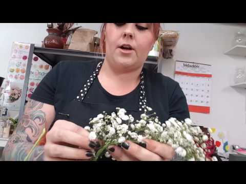 DIY Flower crown. How to make a baby's breath crown