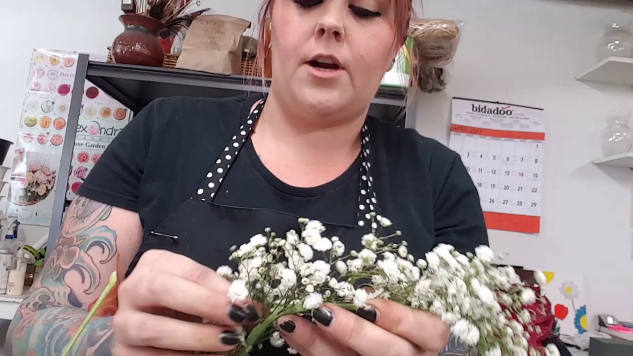 Diy Flower Crown How To Make A Babys Breath Crown Youtube