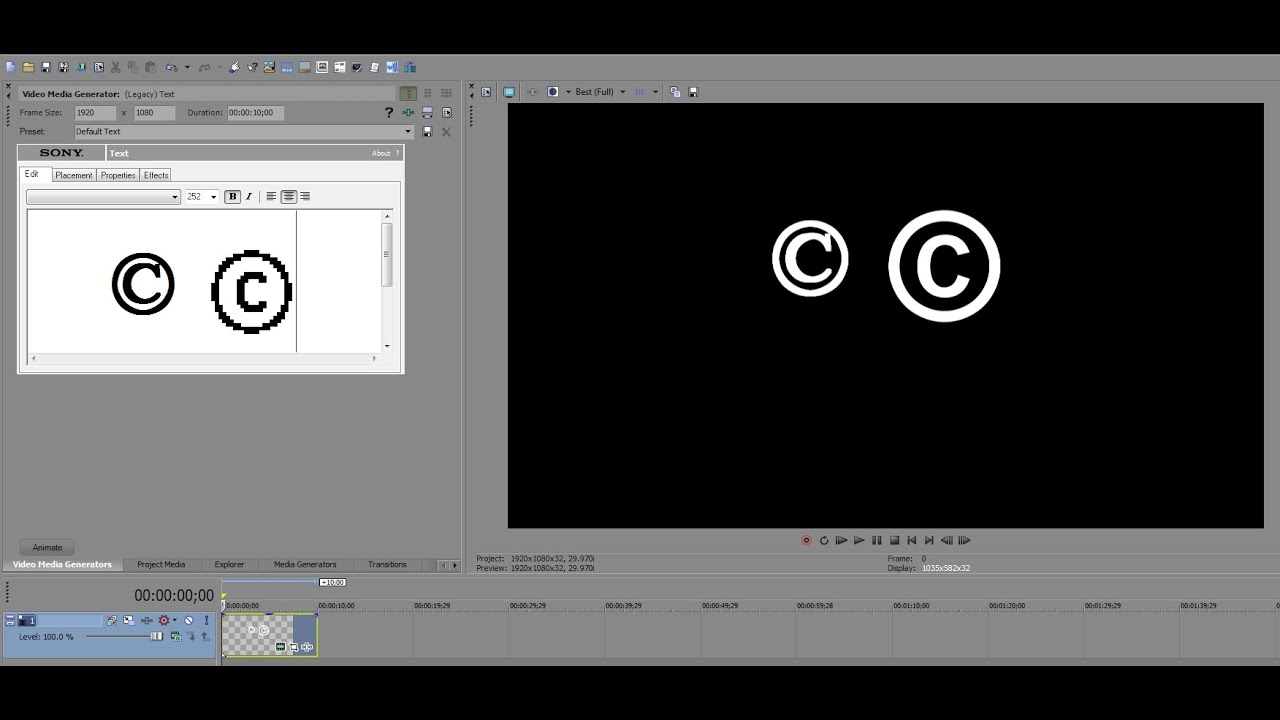 how to add text to video in sony vegas