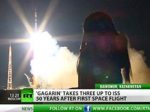 Gagarin se despega a ISS 50 años después del 1er vuelo espacial