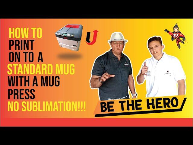 How to print a standard mug with a mug press-No sublimation