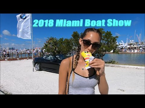 2018 Miami Boat Show! Paradise in Biscayne Bay!