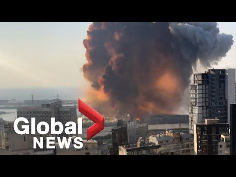 Beirut explosion: Video