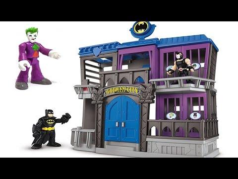 BATMAN VS JOKER!!!! DC Super Friends Gotham City Jail, and Joker Fun Park Lots of Toys - Fun Toys!!!