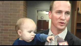 Peyton upstaged by son