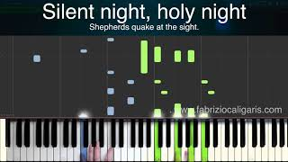 Silent Night - Piano cover - Tutorial and Lyrics