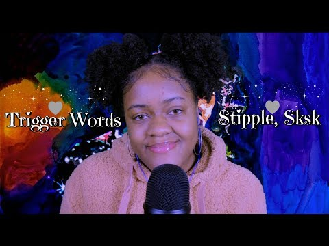 ASMR | Trigger Words In Your Ears (Sk, Stipple, A Little Bit..) ~Close Whisper~
