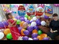PRENSES ELENA ve LERA BALONLAR İÇİNDE SÜRPRİZ YUMURTA CHALLENGE,Kinder joy,ozmo,ülker,topi,toybox