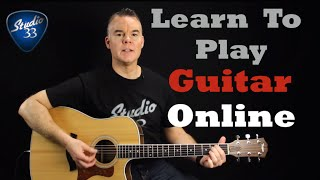 BEGINNER GUITAR- Learn how to play guitar online with Studio 33 Guitar