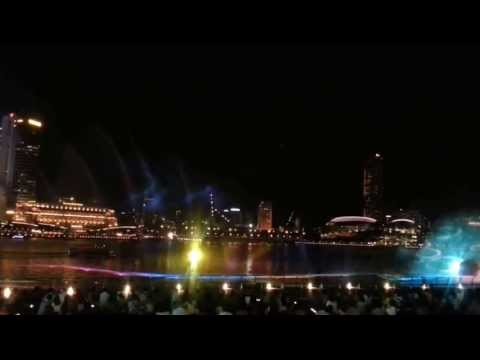 Wonder Full - Spectacular Water & Light Multimedia Show @ Marina Bay Sands Bayfront Singapore