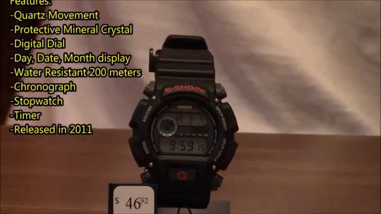 Casio G-Shock DW9052-1V Men s Fashion Watch Review - YouTube 3772a4ce11b