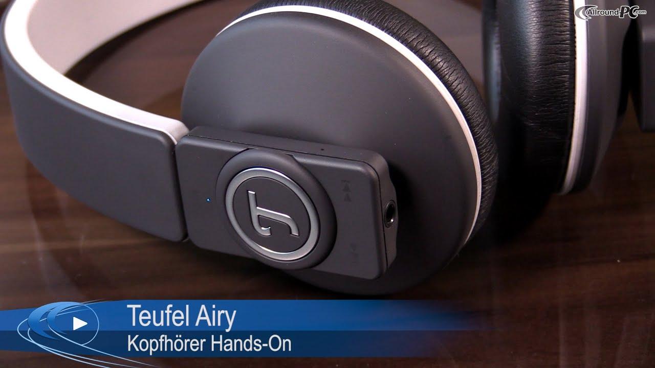 Lautsprecher Teufel Airy Bluetooth-Kopfhörer Hands-On