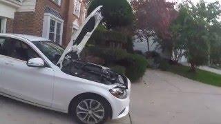 Mercedes Benz MB CLK W209 Bonnet la palanca interruptor de botón