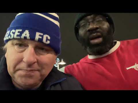 Chelsea SW6 talks to Kenny Ken #Arsenal 2 Chelsea 0 #Arsenal #Chelsea