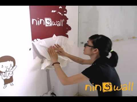 Hướng dẫn thi công Decal dán tường | NINEWall.com