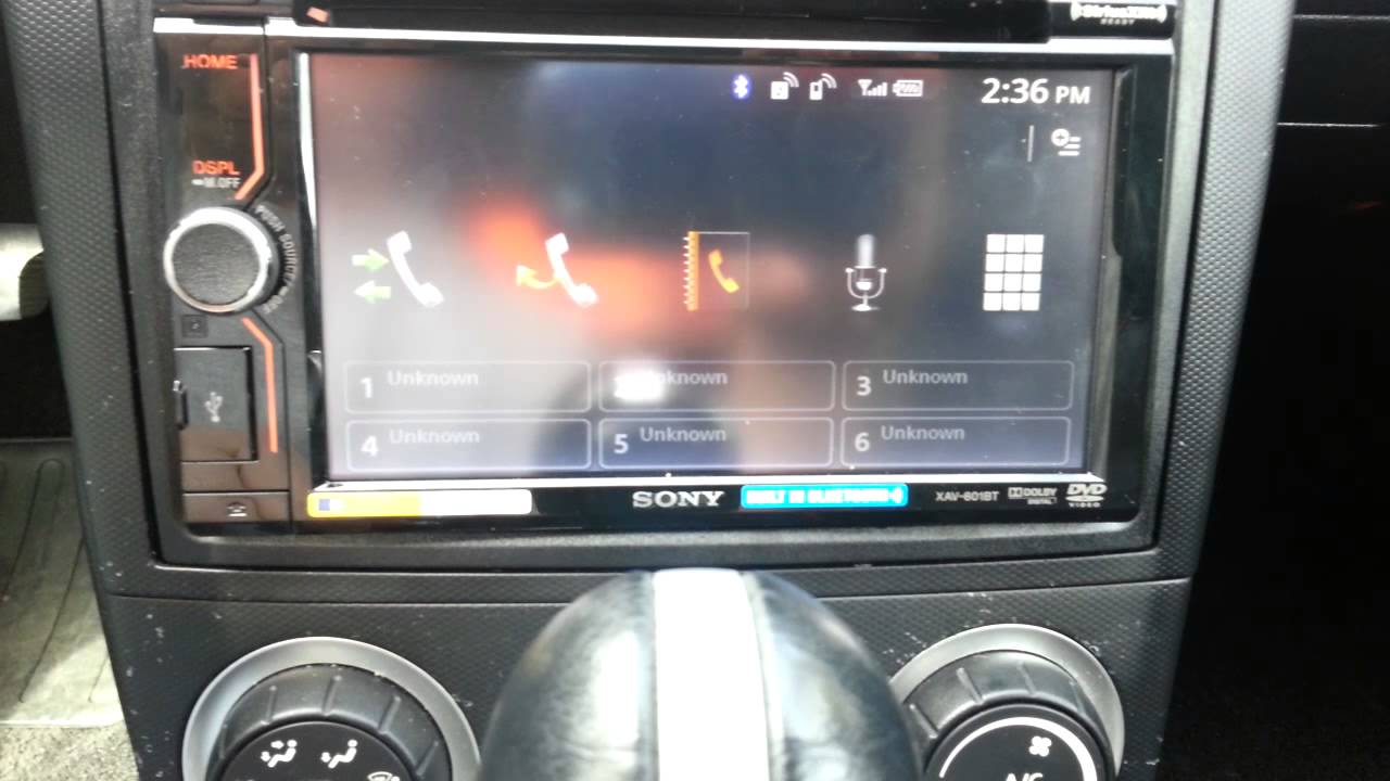 sony xav601bt w rear camera installed in nissan 350z