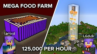 Ending the Minecraft World Hunger by Making a Huge Food Farm in Survival