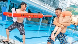 Rescue ZOMBIE UNDERWATER PRISON - Seal Warriors Nerf Guns Fight Criminal Prank Battle | Action Nerf