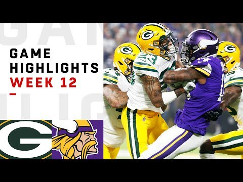 Packers vs. Vikings Week 12 Highlights | NFL 2018
