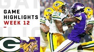 Packers vs. Vikings Week 12 Highlights