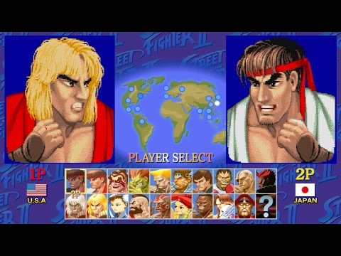 [1/3] Ken(ケン) - STREET FIGHTER II DASH [X68000,SHARP]