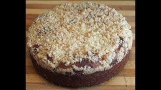 Сдобный пирог с яблочной прослойкой