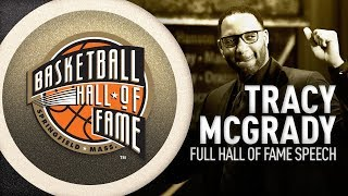 Tracy McGrady's Hall of Fame Enshrinement Speech