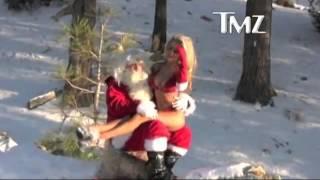 Courtney Stodden & Doug Hutchison as Santa!