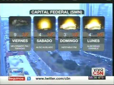 C5N - EL TIEMPO: PRONÓSTICO EXTENDIDO 24/08/2012