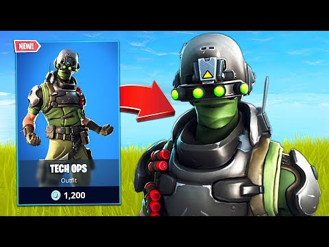 New Tech Ops Soldier Skin! (Fortnite Battle Royale)