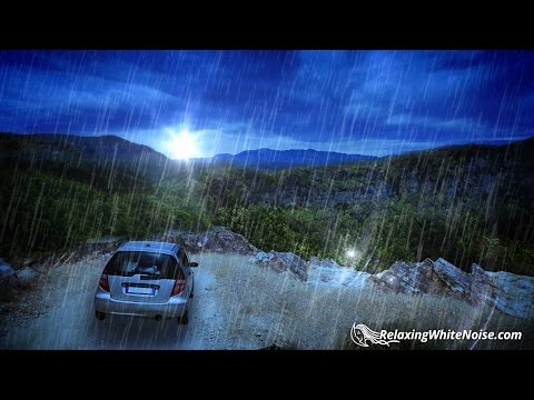 Heavy Rainfall on Car Sleep Sounds | Rain White Noise 10 Hours | Use for Sleeping, Studying