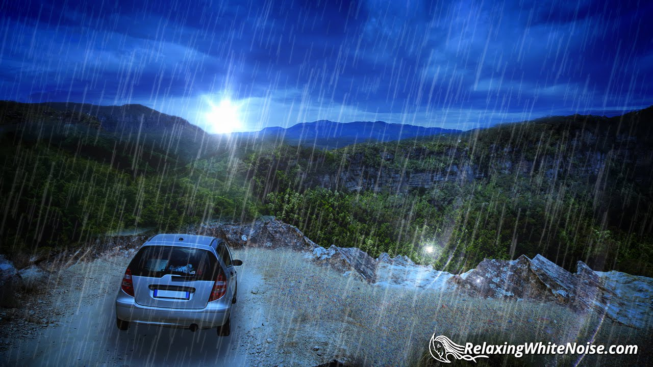 Heavy Rainfall On Car Sleep Sounds Rain White Noise 10