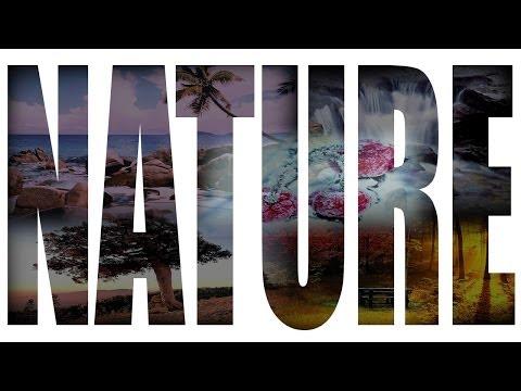Nature text font photoshop
