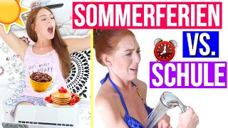MORGENROUTINE: SOMMERFERIEN VS. SCHULE! | LaurenCocoXO