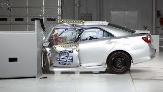 2012 Toyota Camry driver-side small overlap IIHS crash test