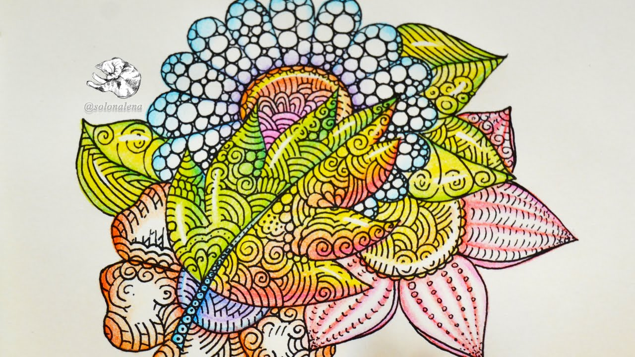 Glass Flowers | Colored Pencil Tutorial | Zentangle Inspired Art ...