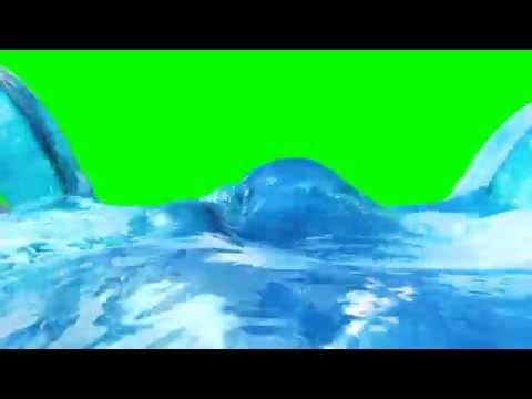 Green Screen Water Collision Fluid Simulation RealFlow - Footage PixelBoom