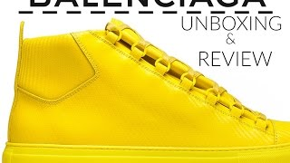 Balenciaga arena carbon effect sneakers review & unboxing