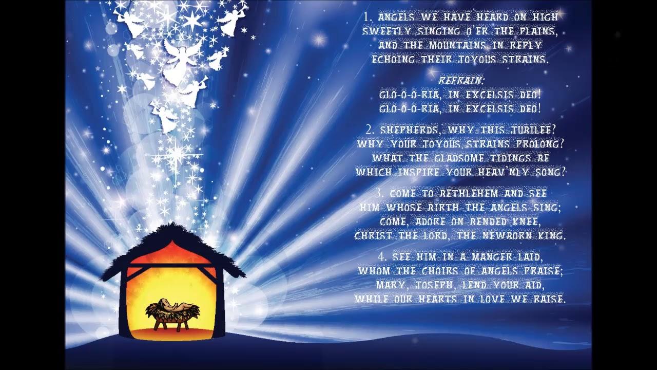 Angels We Have Heard On High Christmas Gloria with lyrics - YouTube