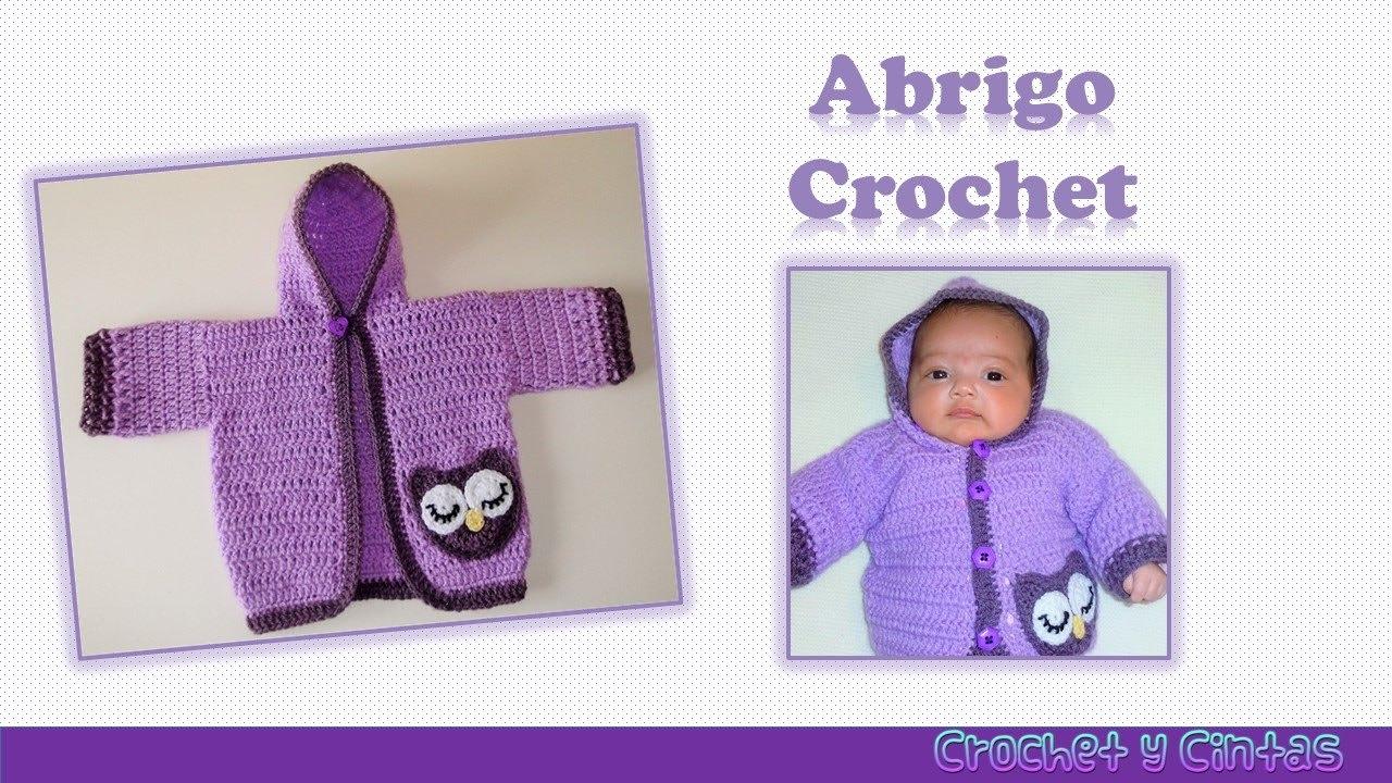 Abrigo búho con capucha crochet para niñas - Parte 1 - YouTube